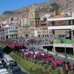 Procession devant l'église San Francisco de La Paz