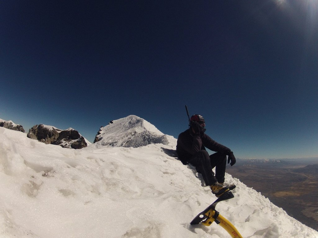 Guillaume au sommet du Parinacota